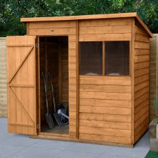 6' x 4' Forest Overlap Dip Treated Pent Wooden Shed