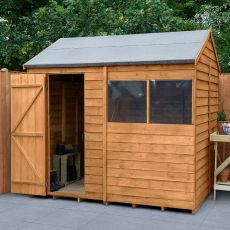 8' x 6' Forest Reverse Apex Wooden Shed