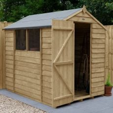 7' x 5' Forest Overlap Pressure Treated Apex Wooden Shed
