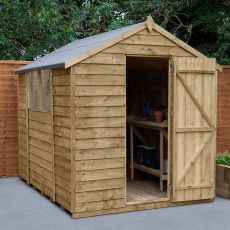 8' x 6' Forest Overlap Pressure Treated Apex Wooden Shed