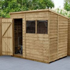 7' x 5' Forest Overlap Pressure Treated Pent Wooden Shed