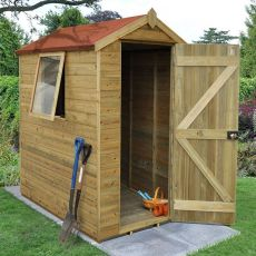 6' x 4' Forest Tongue and Groove Pressure Treated Wooden Shed