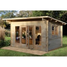 Forest Melbury 4m x 3m Log Cabin (34mm) - Double Glazed