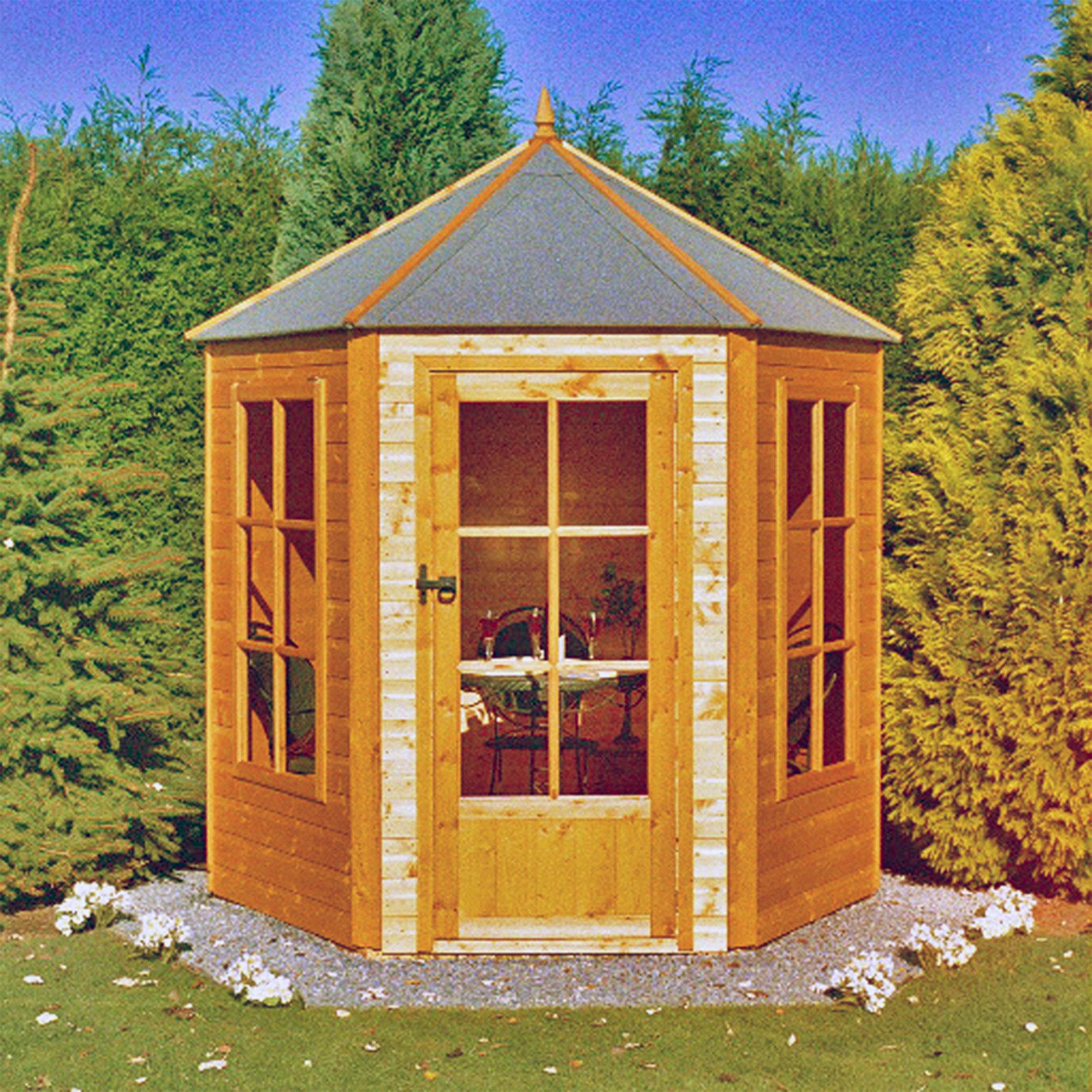 7'1 x 6'2 Shire Gazebo Hexagonal Summerhouse