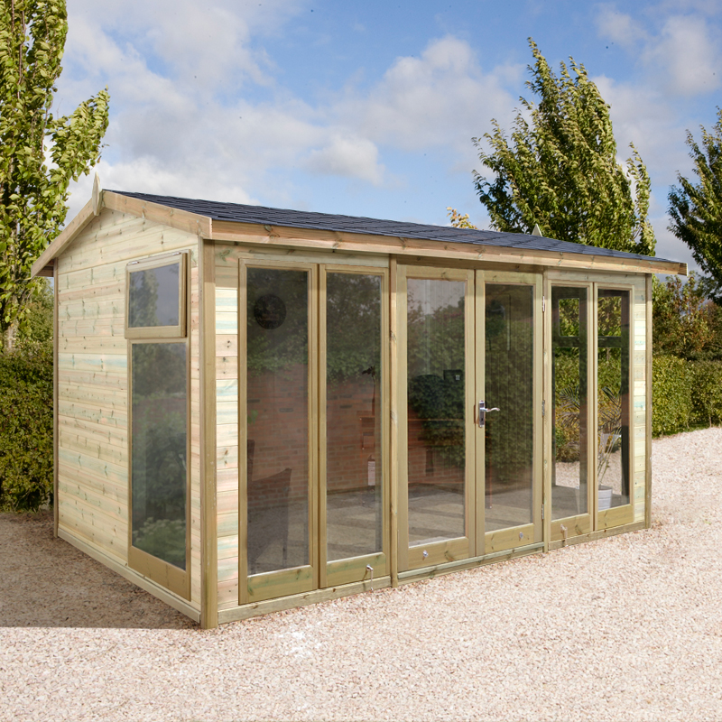 12x8 Ultimate Apex Garden Room - Fully Glazed