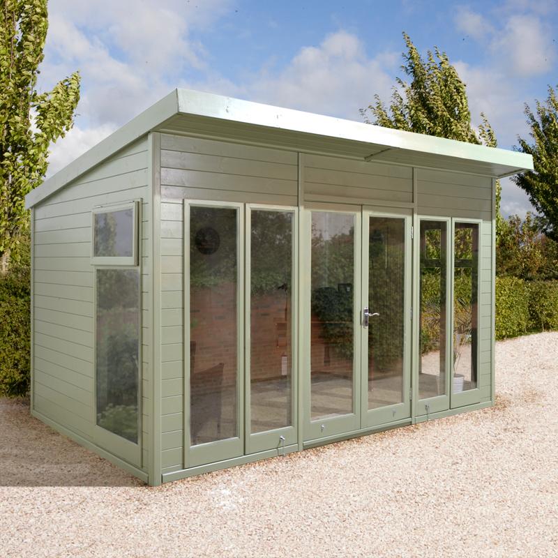 12x8 Ultimate Pent Garden Room - Fully Glazed