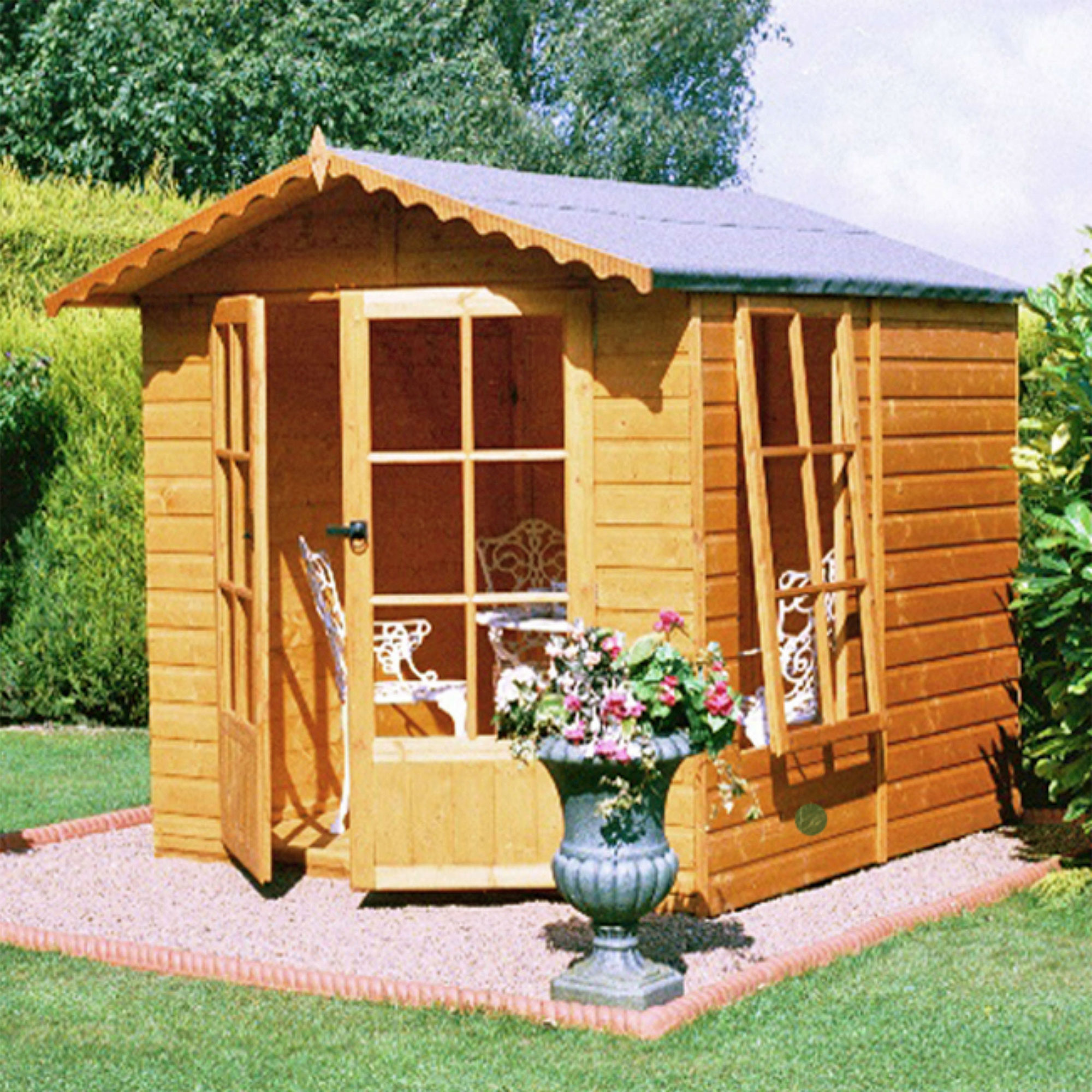 6'6 x 6'9 Shire Buckingham Garden Summerhouse