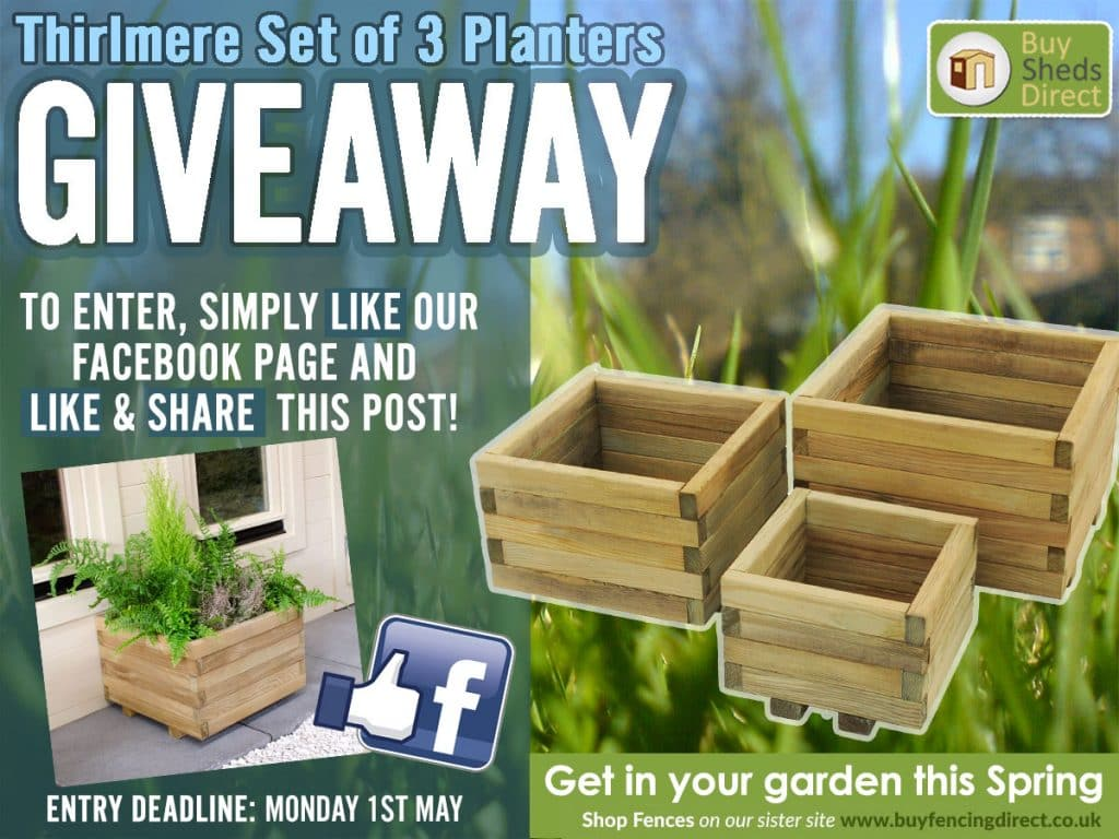 Thirlmere Set of Three Planters Spring Giveaway
