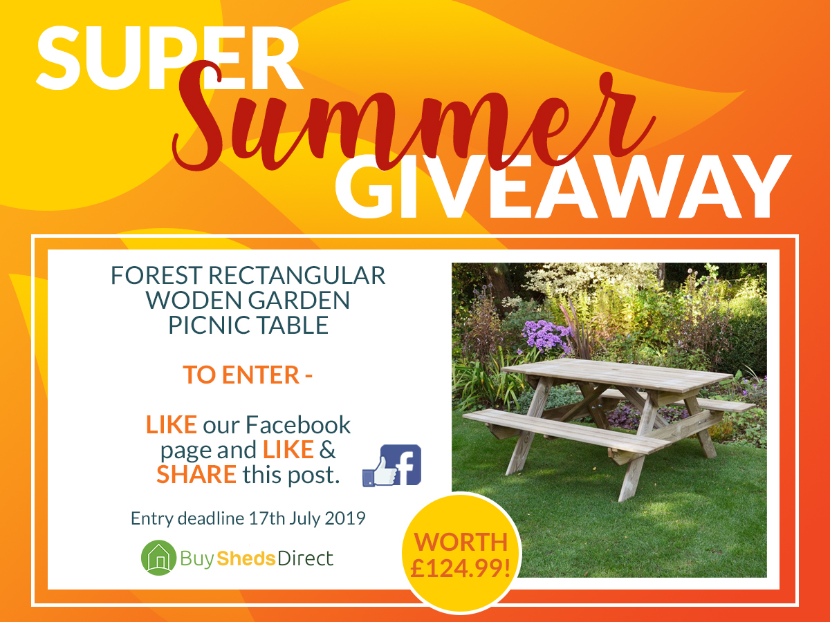 Super Summer Giveaway Picnic Table