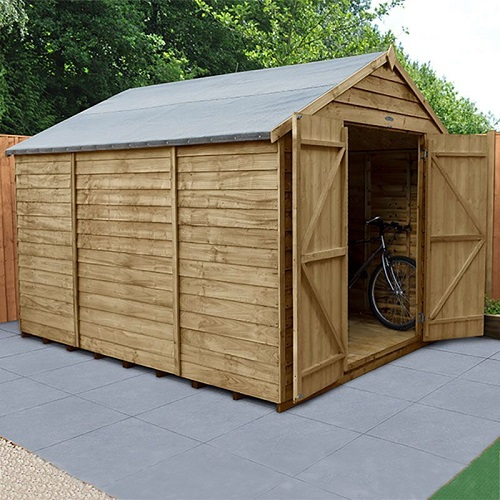forest pressure treated wooden shed