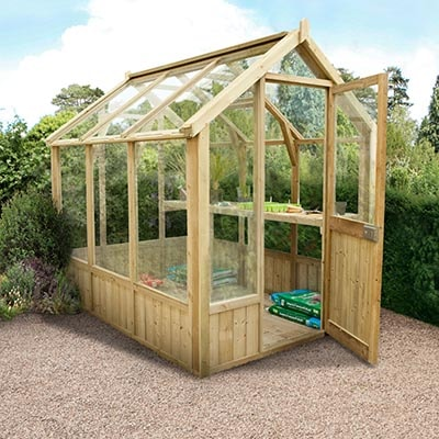 8x6 Sherbourne Wooden Greenhouse