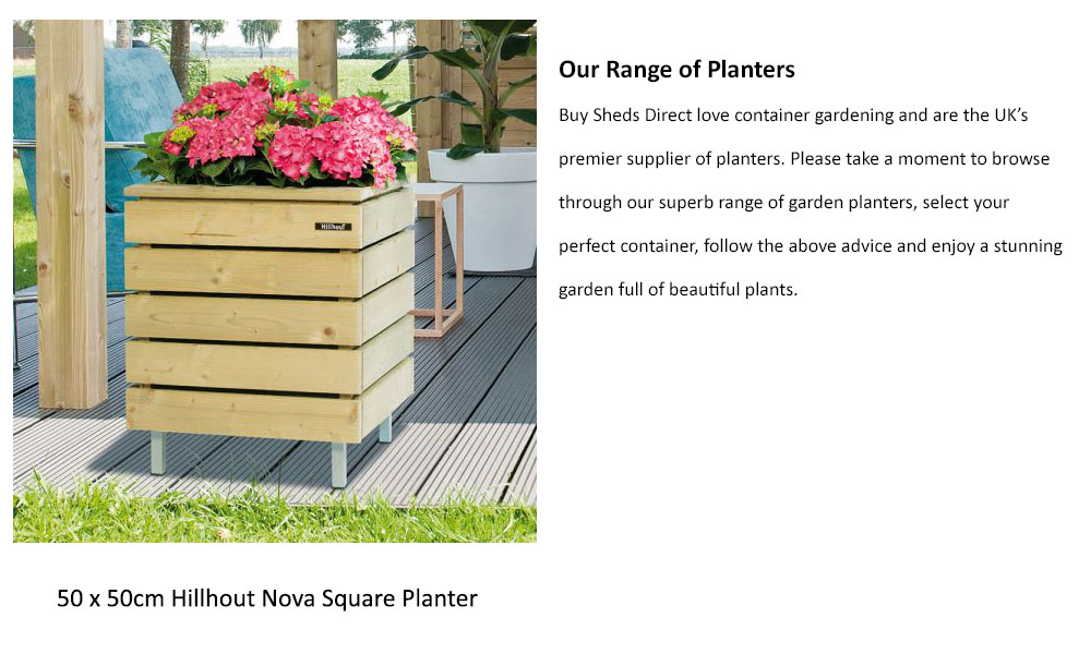 Buy Sheds Direct stock a superb range of planters