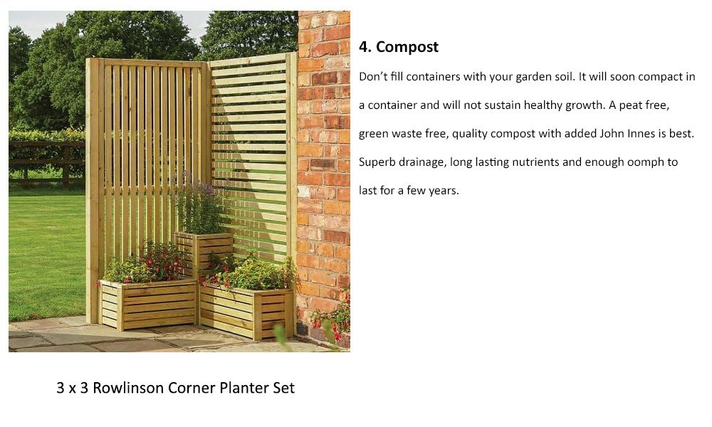 Containers need a good quality compost