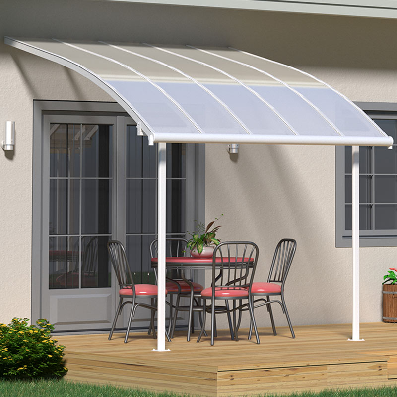 Image of 10x10 Palram Joya White Patio Cover With Clear Panels