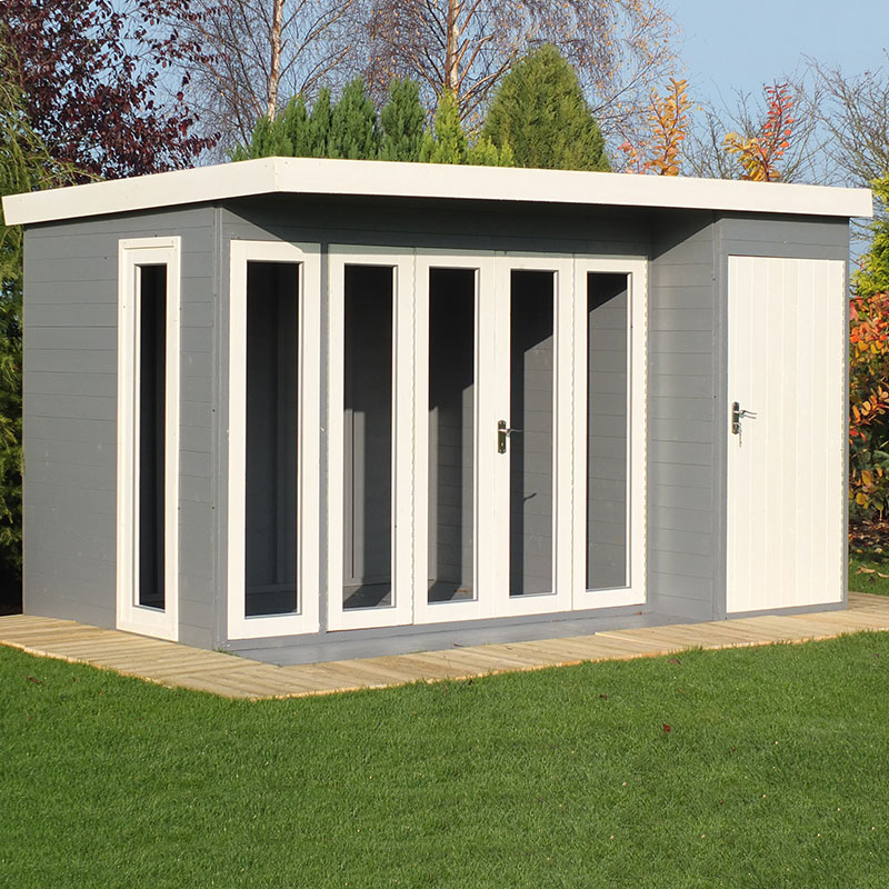 Image of 12'x8' (3.6x2.4m) Shire Aster Combination Wooden Contemporary Summerhouse