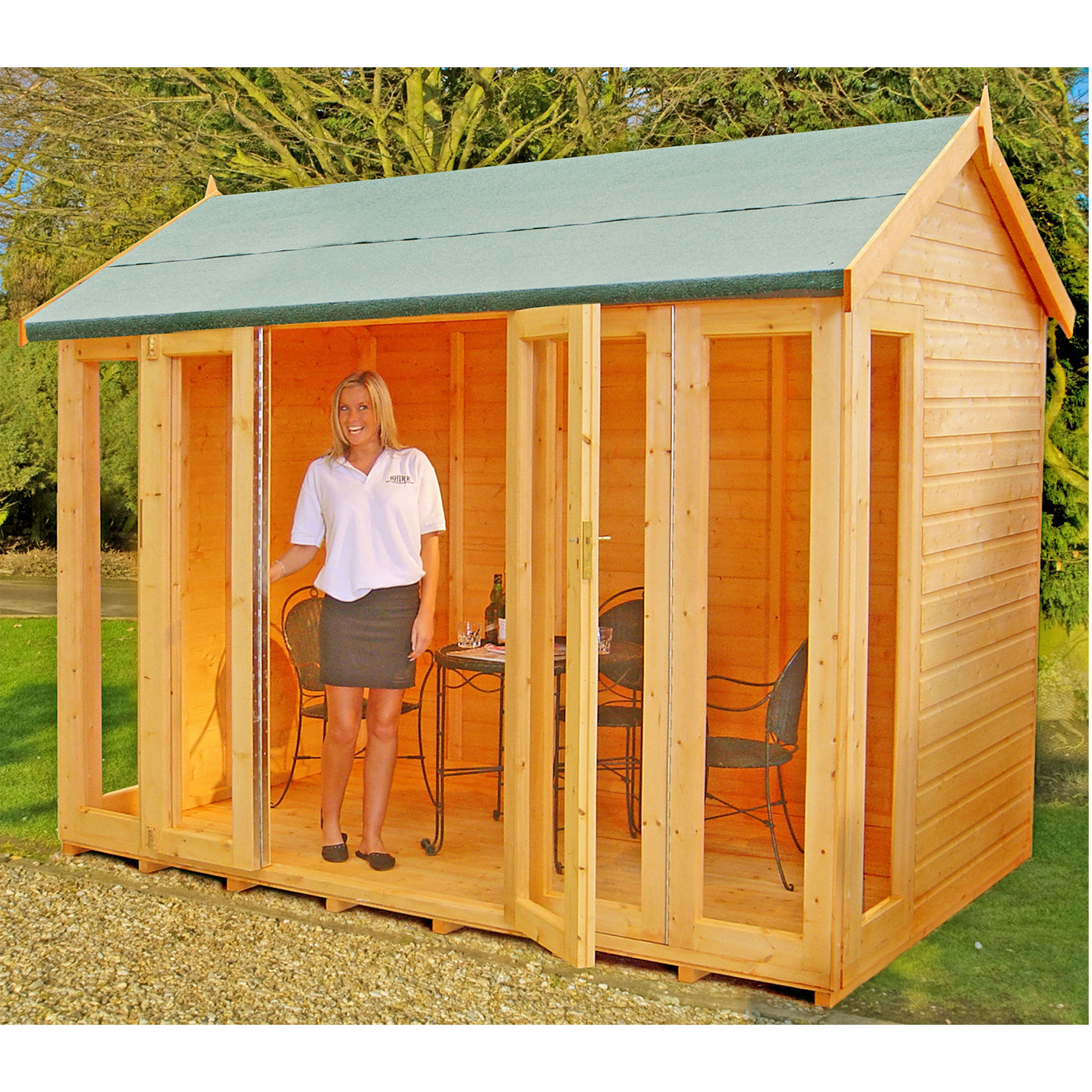 Image of 10'3 x 6'5 Shire Blenheim Wooden Summerhouse