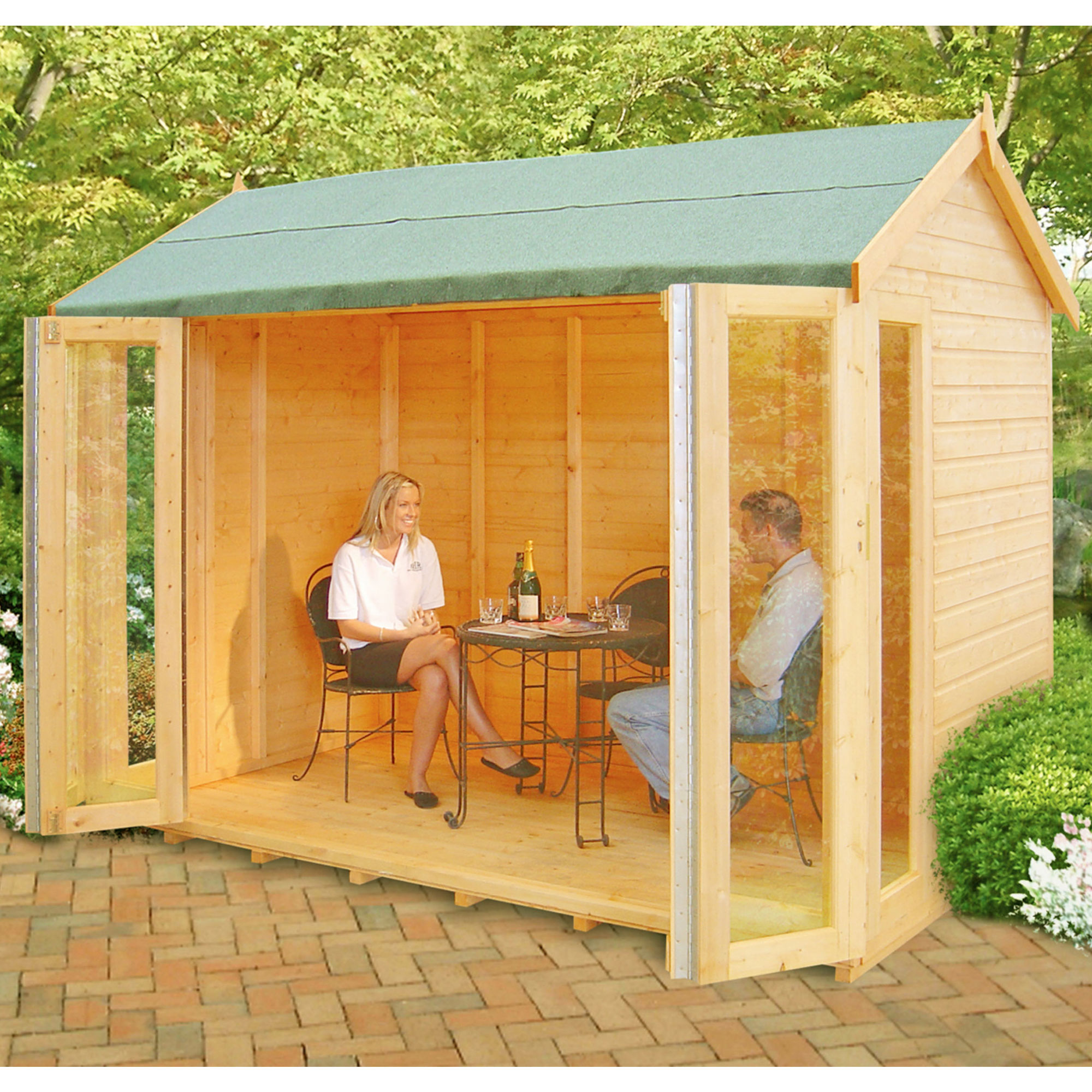 Image of 10'3 x 8'4 Shire Blenheim Wooden Summerhouse
