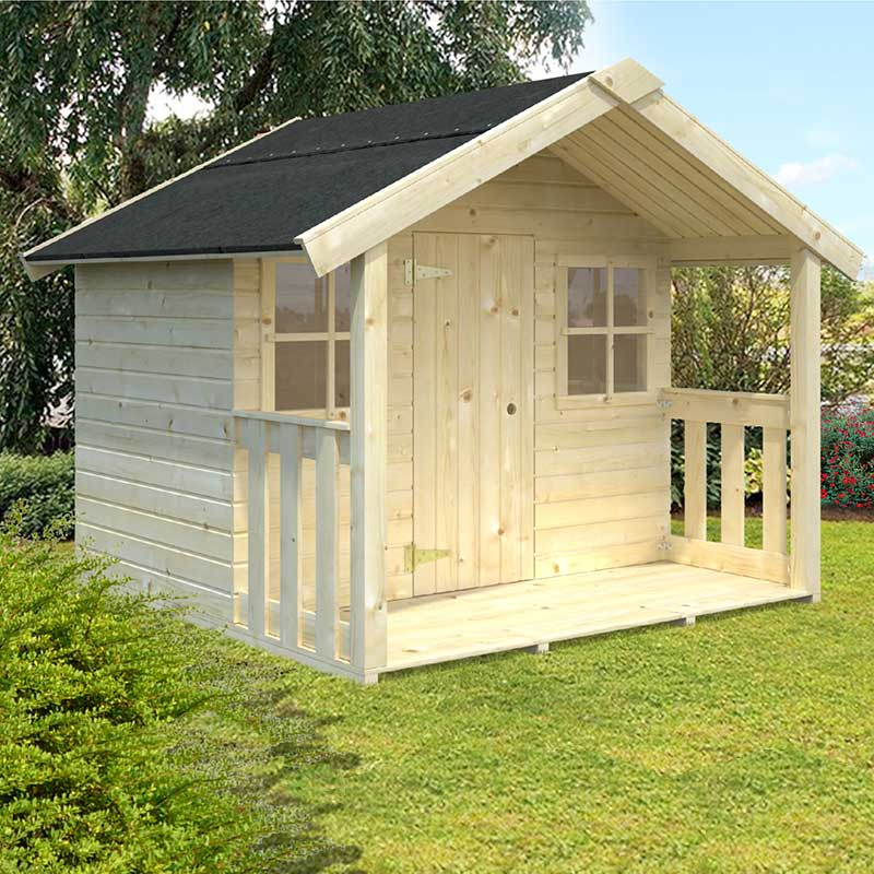 Image of 1.8x1.2m (6'x4') Palmako Felix 16mm Childrens/Kids Cabin - Luxury Outdoor Playhouse