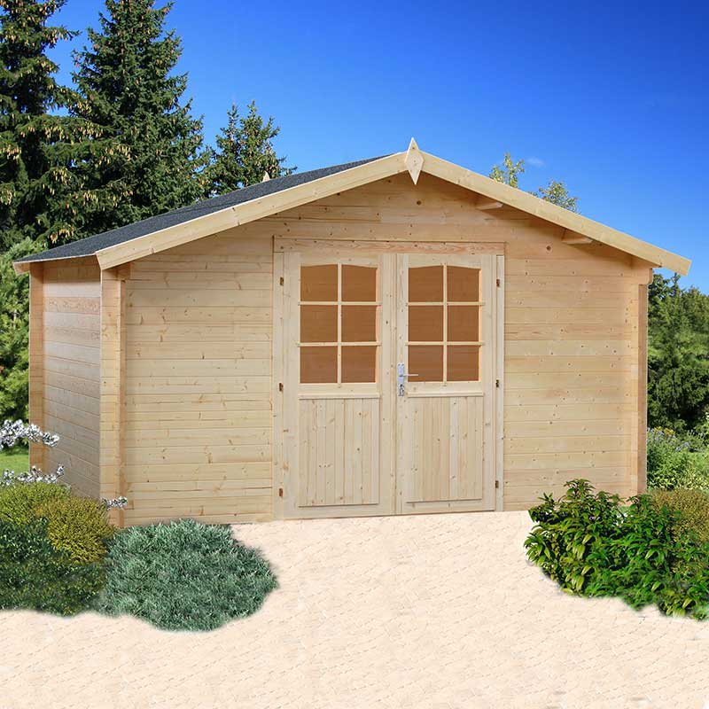 Image of 3.9x3.9m (13'x13') Palmako Lotta 34mm Log Cabin - Garden Room
