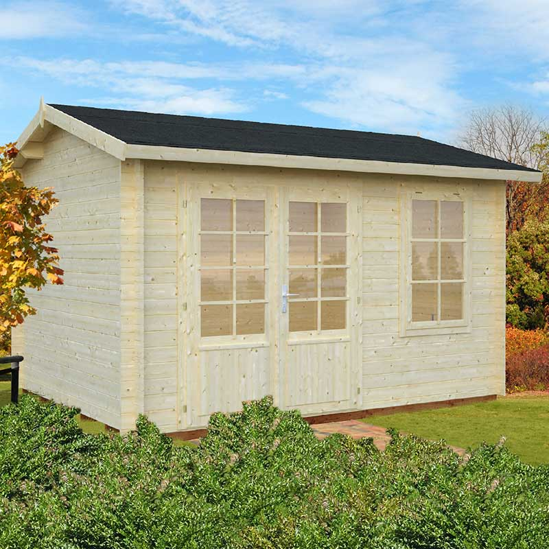Image of 3.9x3m (13'x10') Palmako Iris 28mm Log Cabin - Summerhouse