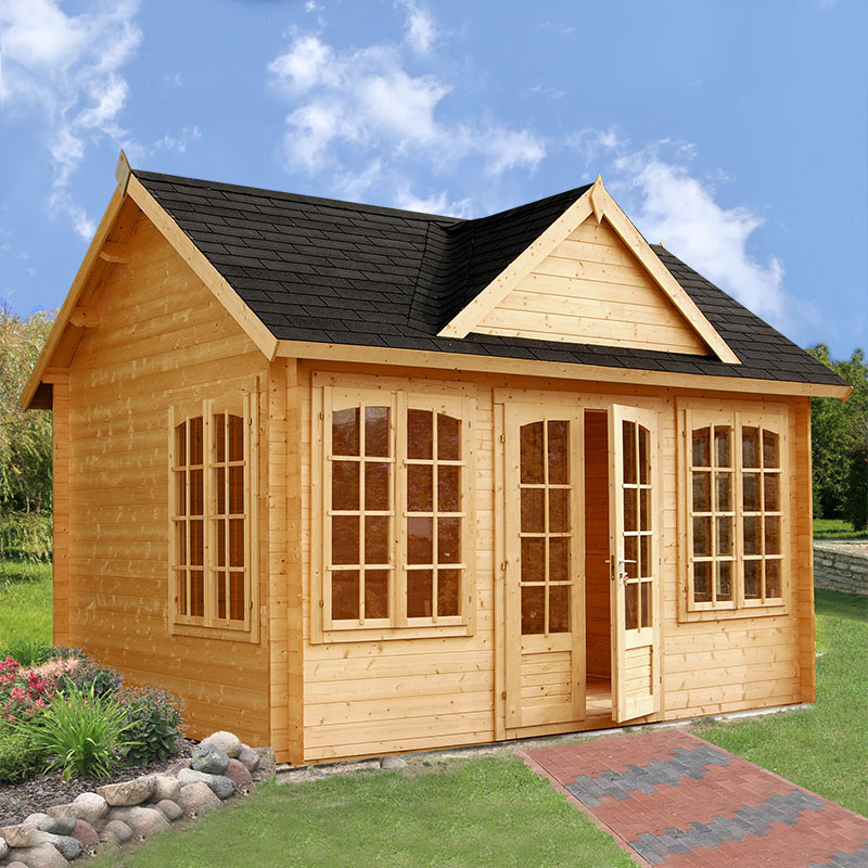 Image of 3.9x3m (13'x10') Palmako Claudia 34mm Log Cabin - Summerhouse