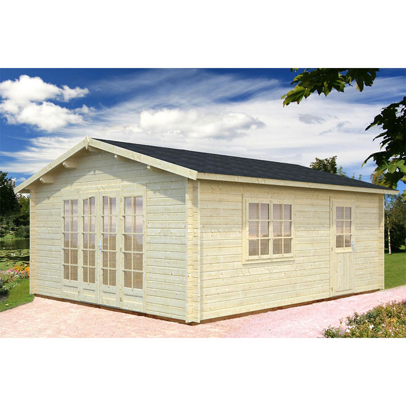 Image of 3.8x5.7m (12'x18') Palmako Irene 44mm Log Cabin - Garden Building