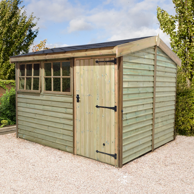 Image of 10' x 8' Barnstyle Garden Workshop - Standard Door (3.1m x 2.49m)