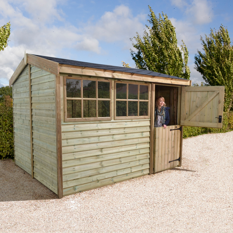 Image of 12' x 8' Barnstyle Garden Workshop - Stable Door (3.71m x 2.48m)