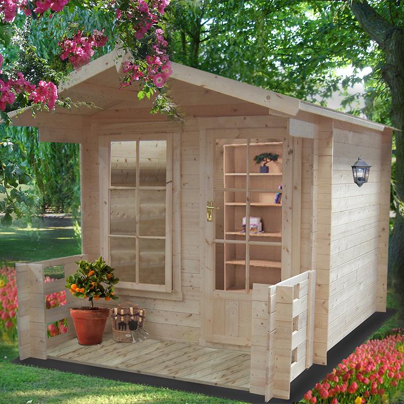 Image of 2.1x2.9m (7'x10') GardenStyle Maulden 19mm Log Cabin - Summerhouse