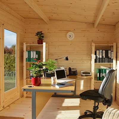 A Log Cabin: The Answer to Working From Home During the Coronavirus