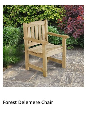 A wooden chair with armrests