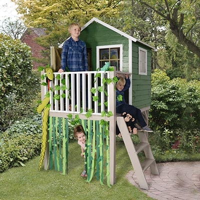 4x4 Forest Pressure Treated Charlie Tower Playhouse