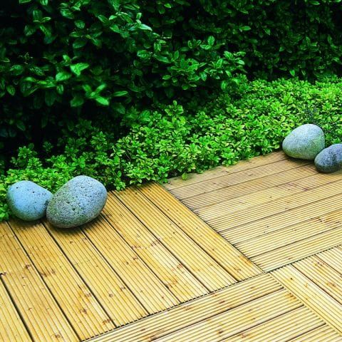 wooden decking tile