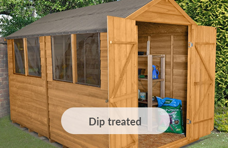 dip treated sheds