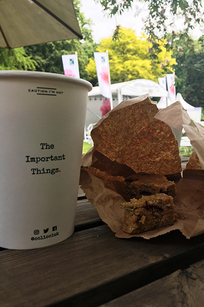 A coffee and bacon sarnie at the RHS Chelsea Flower Show