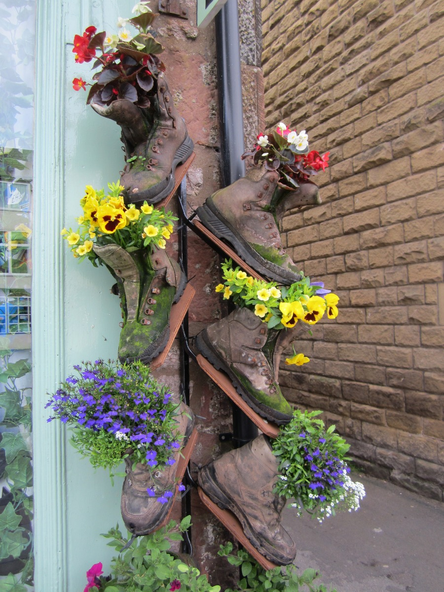 Old Boots as Planters