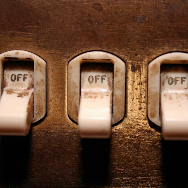 three light switches turned off