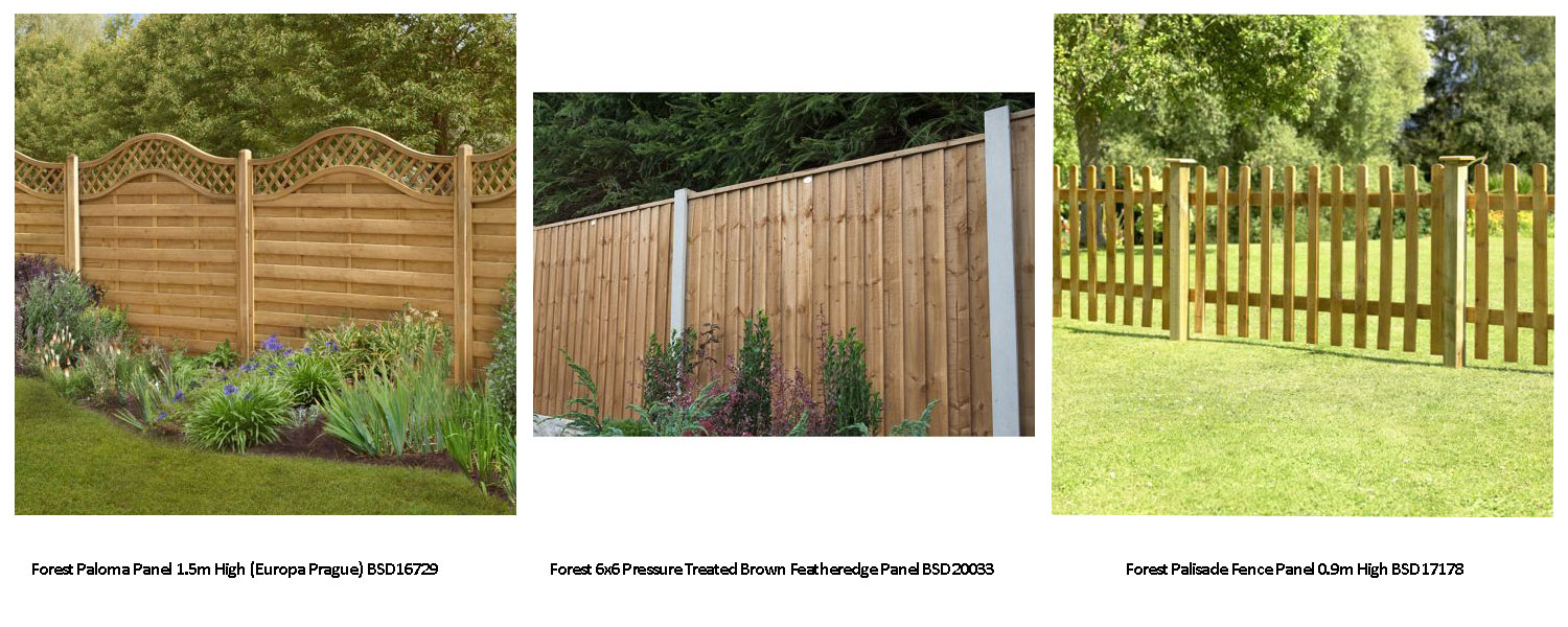 Click here to view our superb range of fence panels