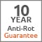 10 year anti-rot guarantee