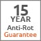 15 Year Anti Rot Guarantee