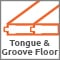 Tongue & groove floor